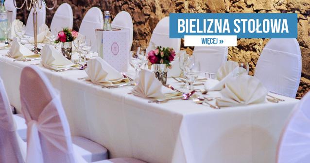 Bielizna stołowa - Starannie dobrane do wystroju restauracji obrusy, serwety i skritingi budują elegancki wygląd miejsca. Bielizna stołowa dostępna jest w naszym asortymencie w uniwersalnych białych modelach, a także w wariantach kolorowych lub z wzorzystą fakturą. Oferujemy kilka standardowych rozmiarów produktów, ale też dostosowujemy je do indywidualnych wymagań Klientów. Wyroby wykonane są z bardzo dobrych jakościowo tkanin.  Obrusy do restauracji - Przygotowane specjalnie na zamówienie obrusy do restauracji będą idealnie pasowały do lokalu. Duża liczba opcji wyboru spośród wielu kolorów, różnych faktur, odmiennych wzorów daje możliwość dostosowania produktu do istniejącej we wnętrzu aranżacji. My zadbamy natomiast o dostosowanie produktu pod kątem rozmiarów do kształtu i wielkości stołów, znajdujących się w pomieszczeniach. Wśród proponowanych rozwiązań dostępne są produkty plamoodporne.