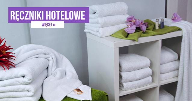 Ręczniki hotelowe - Puszyste i miękkie ręczniki hotelowe zdecydowanie podnoszą komfort Gości podczas pobytu. Proponujemy wyroby z przyjemnej w dotyku tkaniny frotte, która wykazuje bardzo dobre właściwości absorpcyjne. Idealnie nadaje się do osuszania ciała po kąpieli, a przy tym nie podrażnia skóry. Jednocześnie chroni przed nadmiernym wychłodzeniem. Dla podniesienia prestiżu proponujemy wykonanie na gładkiej powierzchni haftów z nazwą hotelu.